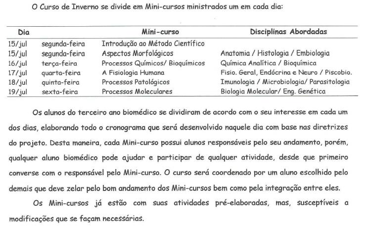 Exerto da proposta original de Eloi Francisco Rosa para o curso; vamos perdoá-lo por usar Comics Sans --na época era 'cool'