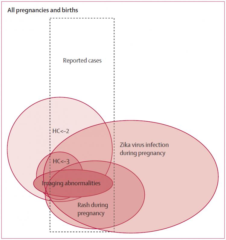 Diagrama de Venn que resume os achados